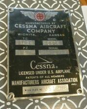 Cessna A185E Data Plate (Aircraft)