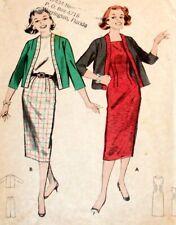 Butterick 5346 Pattern Jumper Jacket Skirt Slim Work Casual Size Teen 10 Cut