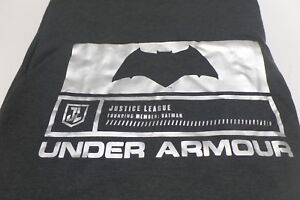 Under Armour UA Alter Ego Batman Justice League T-Shirt Gray Sz S 1322382-019