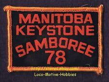 LMH PATCH Badge 1978 GOOD SAM CLUB  Canada  MANITOBA KEYSTONE SAMBOREE  Sams