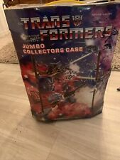 LOADED TRANSFORMERS JUMBO COLLECTORS CARRYING CASE 1984 HASBRO 75000 TARA TOY >
