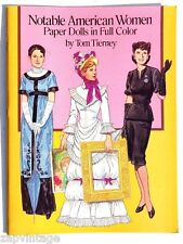 Vtg New 1989 Notable American Women Paper Doll (Tom Tierney) Book