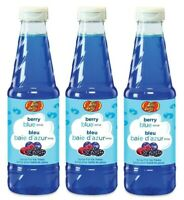 (Pack of 3) Jelly Belly JB15527 Berry Blue Snow Cone Syrup, 16-Ounce, Blue