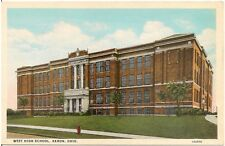 West High School in Akron OH Postcard