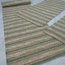 Aktion! Paulig Life Combi grün Handweb Bettumrandung Baumwolle 3 teilig NEU