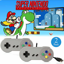 2 Packs USB Controller for SNES Super Nintendo Games Retro Classic Gamepad US