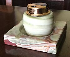 Vintage Marble Ashtray And Lighter.