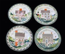 4 Claire Murray NANTUCKET Houses Lighthouses Salad Plates NWOT 4 Sets Avail DISC