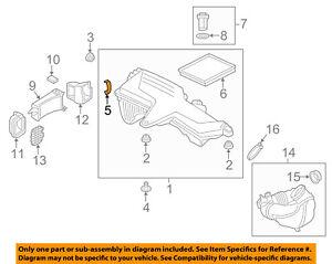 BMW OEM 00-06 X5 4.4L-V8 Air Cleaner Intake-Box Housing Clip Clamp 13711716113