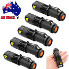 5x CREE Q5 Bright LED Zoomable Focus Flashlight Torch 1200LM Lamp Light AA/14500