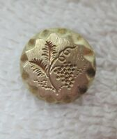 """Vintage Gold Tone Metal Button Intaglio Carved Berry Grape Bunch 1/2"""" A57"""