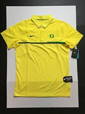Nike Oregon Ducks Elite Polo Shirts Yellow Men's Size L NO Tag