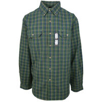 Carhartt Men's S13 Carnival Green Plaid L/S Woven Shirt Size 4XL (Retail $45)