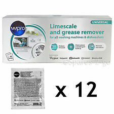 Washing Machine Dishwasher LIMESCALE DESCALER Detergent Remover 12 x 50g Sachets