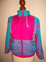 vintage 80s Nylon Jacke jacket shiny 80er oldschool Kinder Sportjacke Gr.140