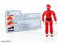 "GI JOE - JINX V1 - Red Ninja Vintage 1987 Hasbro ARAH 3.75"" Action Figure #1"