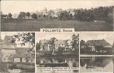 Pöllwitz bei Zeulenroda, Gasthaus zum Reussischen Hof, Forsthaus, Ak um 1920