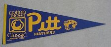 1983 Pitt Panthers Cotton Bowl Game Day Pennant Unsold Concessions Stock Marino