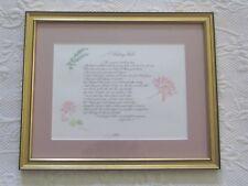 Beautiful Framed Wedding Wish Poem Wedding Gift Excellent