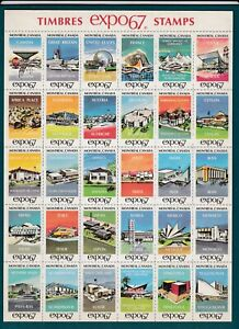 Canada - Montreal Expo 1967 - Participating Countries' Expos Sheet of 30