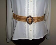 "Civil War/Victorian/Sass Ladies Adjustable Belt (shades of Tan) max. 39"""