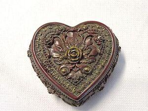 Vintage Heart Shaped Valentine Box Jewelry Box