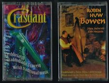 2 x WELSH TRADITIONAL MUSIC CASSETTES Crasdant & Robin H Bowen(sealed, unused)
