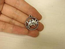 10 bird pendants charm tibetan silver antique silver style wholesale craft FB68