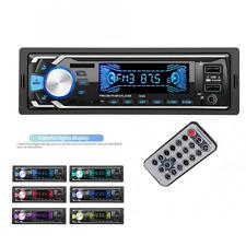 12V 1DIN Car Audio Dash Radio Stereo MP3 Player FM Bluetooth 2USB Charger AUX