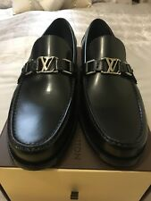 8e297b8ff2ef Original Genuine Mens Louis Vuitton Leather Major loafers size 7.5 Brand New