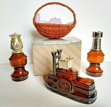 4 - Vintage Avon Collectible Glass Bottle Collection & Other Item w/ Orig. Box.