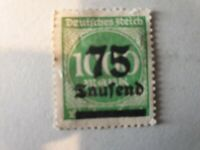 75.000M on 1.000M stamp with black overprint - Weimar Republic 1923