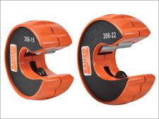 Heavy Duty Bahco 306 Rebanada Cortador Twin Pack Set Tubo 15 mm & 22 mm Herramienta de corte