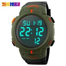 New Men Outdoor 50m Waterproof Dive Swim army Sport LED Digital Wristwatch UM10