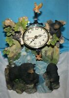 Collectible Bear decorative clock Handmade and Hand Painted.