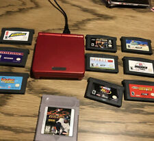 Nintendo Gameboy Advance SP + charger + 10 games + tested!