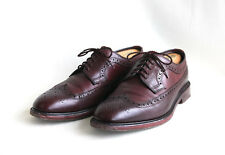 LOAKE 1880 Taunton Brogues - Oxblood Leather, Size 11, Made in England
