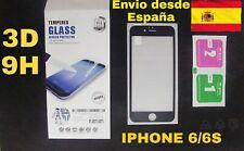 Protector de pantalla completa de vidrio templado 3D para Iphone 6/6S