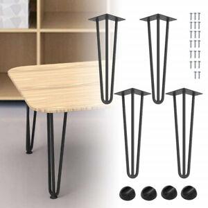 4er Hairpin Legs 3 Stangen Möbelfüße Tischkufe Tischbeine Haarnadel Schreibtisch