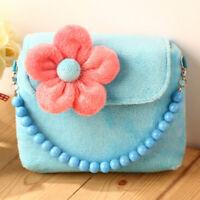 Little Girls Mini Cute 3D Flower Handbag Shoulder Bag Cross-body Bag Purse D