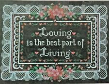 """Dimensions Cross Stitch Instructions 13516  """" Loving And Living """"  12"""" x 9"""""""