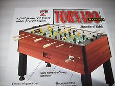 "Valley TORNADO 1998 Original NOS FOOSBALL SOCCER Arcade Game 27"" X 19"" POSTER"