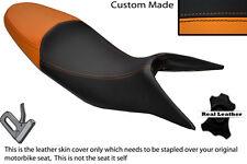 BLACK & ORANGE CUSTOM FITS KTM SMT 990 09-13 DUAL LEATHER SEAT COVER ONLY