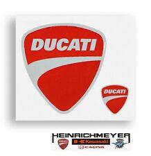 Original Ducati Sticker Aufkleber 3D Company Wappen 2-er Set