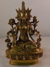 B251 Tibet Buddha Guanyin Göttin Hochzeitsschrank Weiße Tara  16cm Hoch 700g