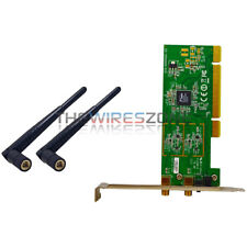 300Mbps 802.11n/g/b PCI Wifi Wireless Card Adapter Antenna for Desktop PC