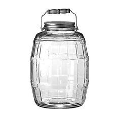 Anchor Hocking 85679 2-1/2-Gallon Glass Barrel Jar with Brushed-Aluminum Lid