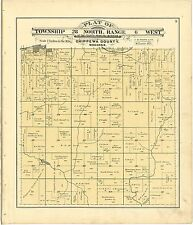 1888 atlas Chippewa County Wisconsin maps plat old Genealogy history Dvd P77