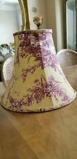 FRENCH COUNTRY Cranberry And Yellow Toile Lamp Shade Waverly  9""
