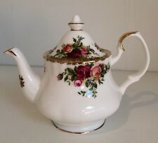 "Vintage ROYAL ALBERT ""Old Country Roses"" Decorative Miniature Teapot"